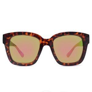 Tortoise Oversized Mirrored Sunglasses NWT